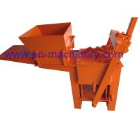 Wholesale Block Making Machine Manual Hand Soil Pressing Interlocking Clay 2-40 Machine from china suppliers
