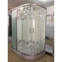 Wholesale Simple Maple Leaf Shower Cabin With Tray , Bathroom Shower Cubicles from china suppliers
