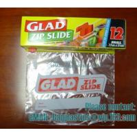 Wholesale Slider Seal Food Storage Bag, Quart, American value, drug store, ziploc, zipper seal from china suppliers