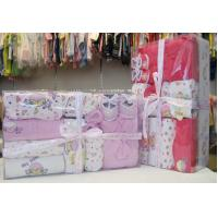 Wholesale Luxury Pink Organic Cotton Layette Christening Gift Sets For New Born Baby Girls from china suppliers