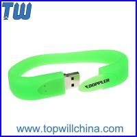 Wholesale Delicate Silicone Portable Wristband 16GB USB Flash Drive Fashion Design from china suppliers