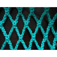 Wholesale Green HDPE Decorative Fishing Net , Durable Knotless PE Rope Netting Fabric from china suppliers