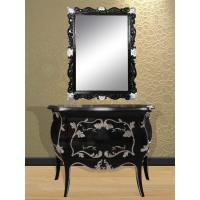 Buy cheap White French Makeup Console Table With Mirror By Wooden Vintage Material from wholesalers