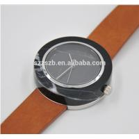 Wholesale Luxury brand ladies Marble Wrist Watches / black stone watch 1 year Warranty from china suppliers