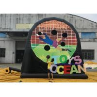 Quality Double Sides Inflatable Football sticky Darts Velcro Soccer Dart Goal Post for sale