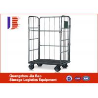 Buy cheap Four-wheel Logistics Warehouse Trolley , Collapsible Roller Container Storage Racks of Logistics Trolley from wholesalers