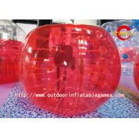 Wholesale Human Inflatable Bumper Bubble Ball / Kids And Adults Bubble Suit Red from china suppliers
