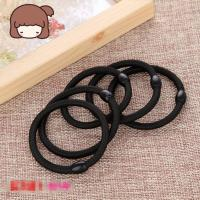 Wholesale Black Color Women Elastic Hair Tie Band Rope Ring Ponytail Holder Nylon Hair Style Head Band Accessories from china suppliers