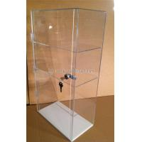 Quality 3-Layer Acrylic Cosmetic Display Stand Makeup Store Display Unit With Lock for sale