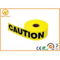 Wholesale Custom Print Police Safety Warning Tape , PE Black and Yellow Warning Stripes from china suppliers