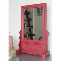 Wholesale Carved desktop wooden Mirror from china suppliers