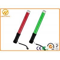 Wholesale Portable ABS Handle PC Pipe LED Traffic Baton with Three AA Chargeable Batteries from china suppliers