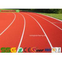 Wholesale Red Self-forming Surface Mixed PU Atheletic Sport Running Track 13mm Thickness from china suppliers