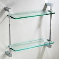 Wholesale Sanitary Accessories in Double Layer, Made of Brass and Tempered Glass, Easy to Install from china suppliers