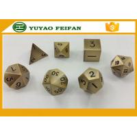 Quality Wholesale custom polyhedral set RPG black finish metal custom dice for sale