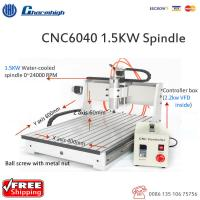 Wholesale Powerful Desktop 3 Axis CNC 6040 Router , Ball Screw CNC Cutting Machine from china suppliers