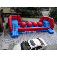 Wholesale Red Tarpaulin Inflatable Jumping Castle / Wipeout Obstacle Course 10x4m from china suppliers
