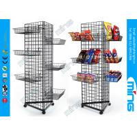 Wholesale Wire Mesh Gridwall Display Racks Fixtures Triangle Unit With Bulk Baskets from china suppliers