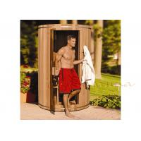 Wholesale Western Red Cedar Silo residential Sauna / Barrel Sauna For Outdoor / Indoor from china suppliers