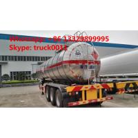 Wholesale hot sale good quality 28mt 3 axles methyl chloride transport lpg semi-trailer, 35,000Lbulk lpg gas trailer from china suppliers