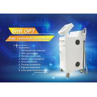 Quality SHR ipl laser hair removal machine , WHITE laser tattoo removal machine for sale