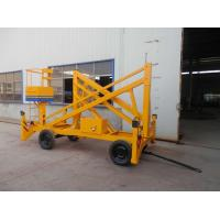 Wholesale 12m Trailer Mounted Hydraulic Boom Lift Yellow Explosion Proof For Insulating from china suppliers