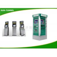 Wholesale 80mm Thermal Printer Dual Screen Kiosk Free Standing Type Steel Cabinet from china suppliers