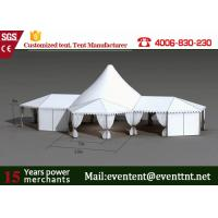 Wholesale Folding Shade Canopy PVC Fabric , High Peak Frame Tents With Restaurant Seat Cushion from china suppliers
