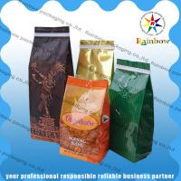 Wholesale Stand Up Coffee / Tea Plastic Packaging Bag Side Gusset  Custom Printing With Valve from china suppliers