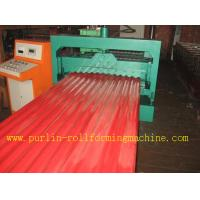 Wholesale CE Corrugated Roof Panel Roll Forming Machine PANASONIC Transducer For Chain Drive from china suppliers