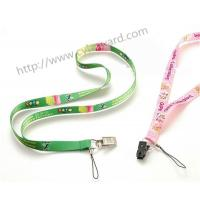Flat sublimation lanyard with bulldog clip