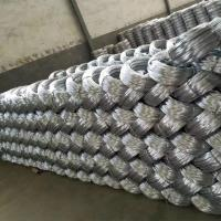 Buy cheap Zinc coating 0.9mm 20 Gauge Hot Dip Galvanized Iron Wire for Mesh Weaving from wholesalers