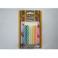 Wholesale Fancy Striped Birthday Candles / Spiral Multi Colored Candles For Festival Party from china suppliers