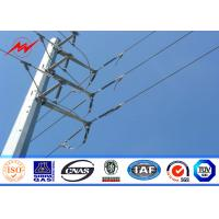 Wholesale 10M galvanized steel Electrical Power Pole for transmission 69KV line from china suppliers