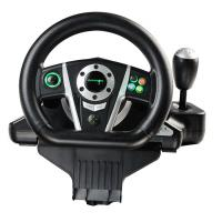 black white vibration driving game steering wheel for pc x input