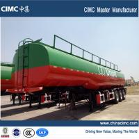 Wholesale 3 axles fuel tanker semi trailer , 42000 liters fuel tank semi trailer from china suppliers