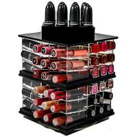 Wholesale rotary acrylic lipstick display holder makeup organizer from china suppliers