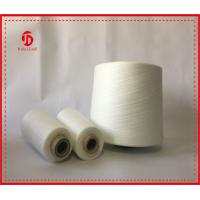 Wholesale Yizheng Staple Fiber Polyester Raw White Yarn , Full Dull Polyester Yarn from china suppliers