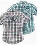 Buy cheap Fashion short sleeve yarn dyed fabric kids plaid  shirt manufacturers for boys of 3-7 Y from wholesalers