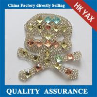 Wholesale D0930 Fashion design wholesale crystal motif patch for boot from china suppliers