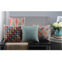 Wholesale Blue And Multi Coloured Striped Custom Luxury Sofa Back Cushions from china suppliers