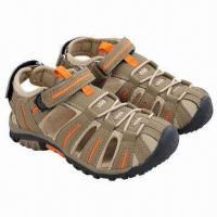 Wholesale Children's Sandals with suede and mesh upper and durable outsole from china suppliers