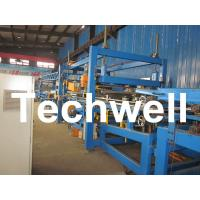 Wholesale 32KW, 50 - 250mm Rock Wool Insulated Sandwich Panel Line Machine For Prefabricated House from china suppliers