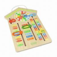 Wholesale Wooden Educational Calendar Clock from china suppliers
