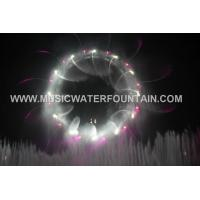 Wholesale RGB Color Stainless Steel Water Screen , Customized Fire Big Scale Water Show from china suppliers