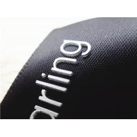 Wholesale Smooth Black Ribbon Silicone Screen Printing Label Thick Plate White 3D Logo from china suppliers