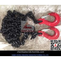 Wholesale 10mm Grade 80 chain with clevis slip hook,red color from china suppliers
