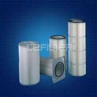 Buy cheap pleated filter paper dust collector filter cartridge from wholesalers