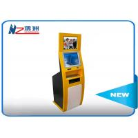 Wholesale PC Built In Touch Screen Information Kiosk For Business Center , Yellow Blue from china suppliers
