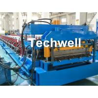 Wholesale PLC Frequency Control Metal Roof Panel Roll Forming Machine With Color Steel , PPGI Raw Material from china suppliers